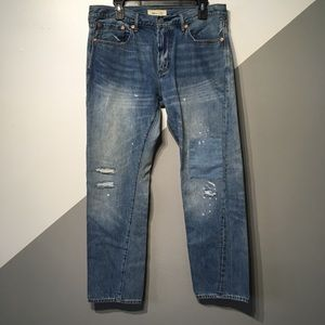 GAP 34x30 Distressed Slim Fit Jeans 100% Cotton